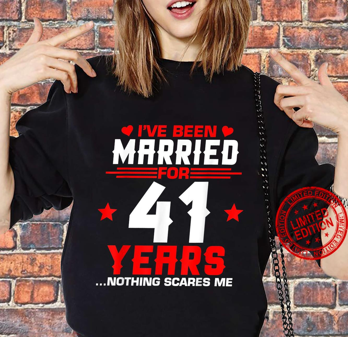 41st Wedding Anniversary Couples Married Wife Husband Shirt sweater