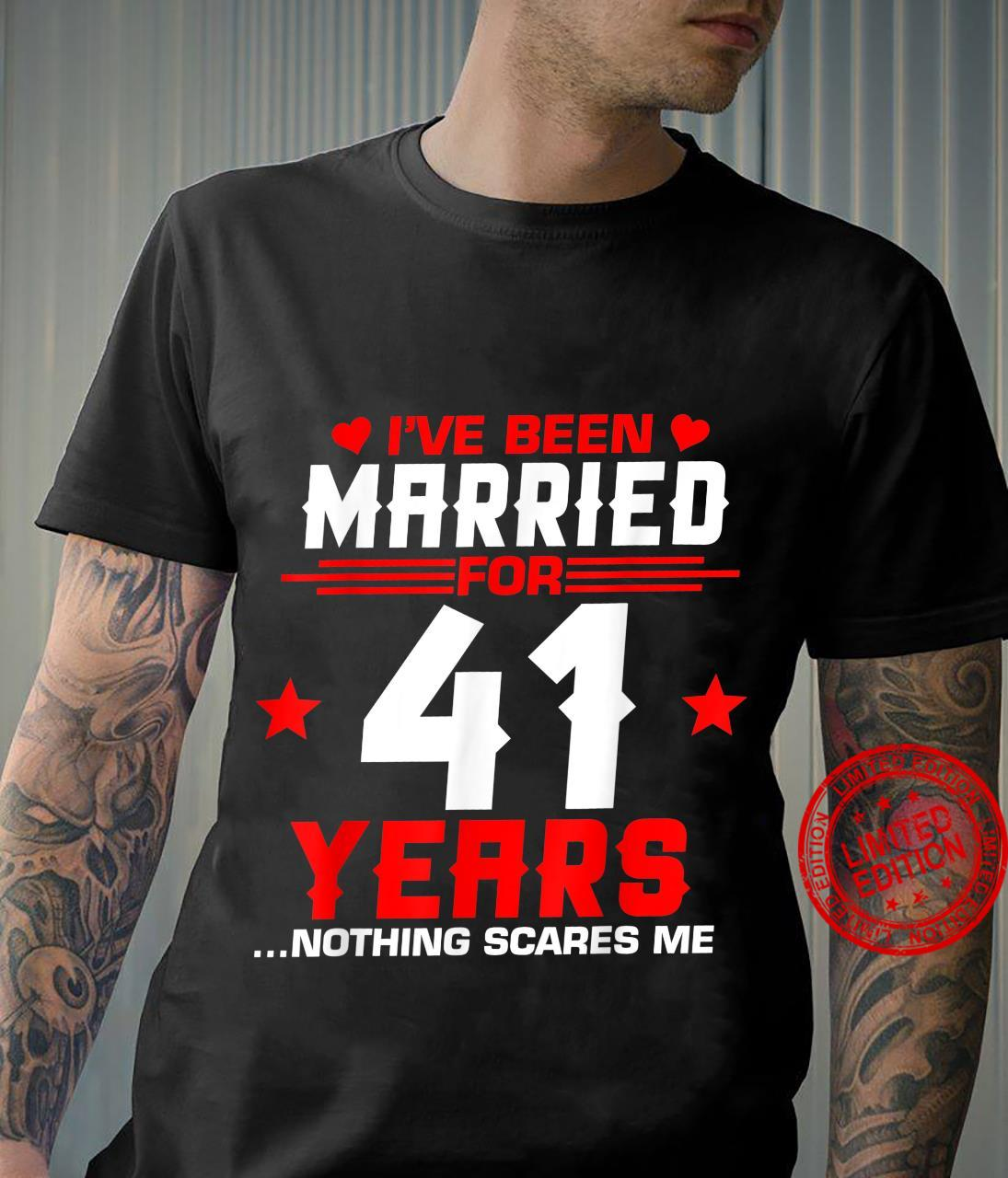 41st Wedding Anniversary Couples Married Wife Husband Shirt