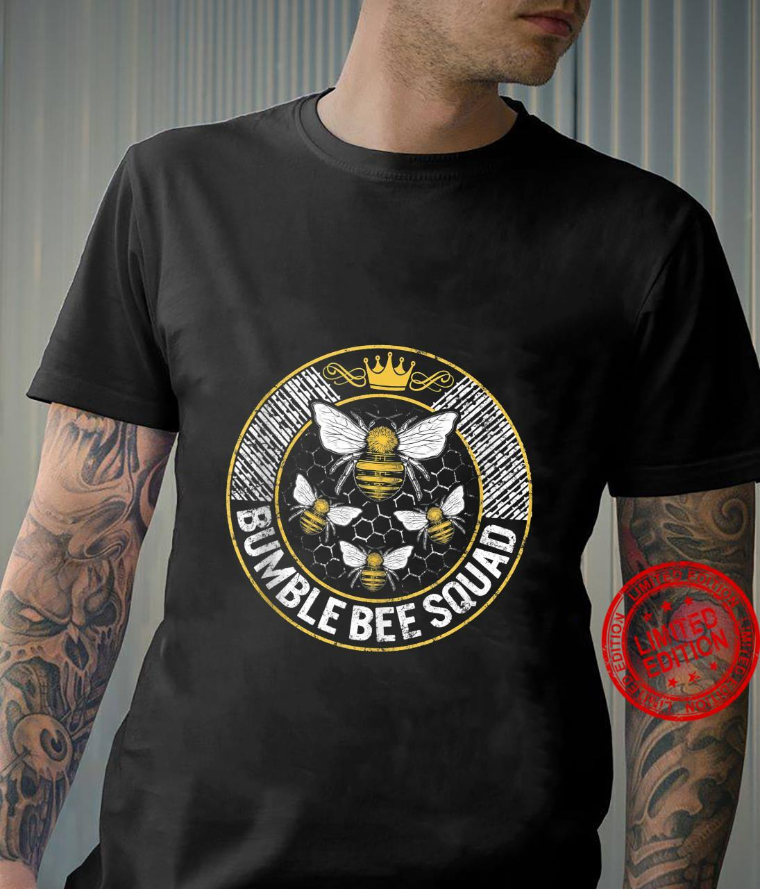 Bumble Bee Squad Team Family Matching Beekeeper Thankful Shirt