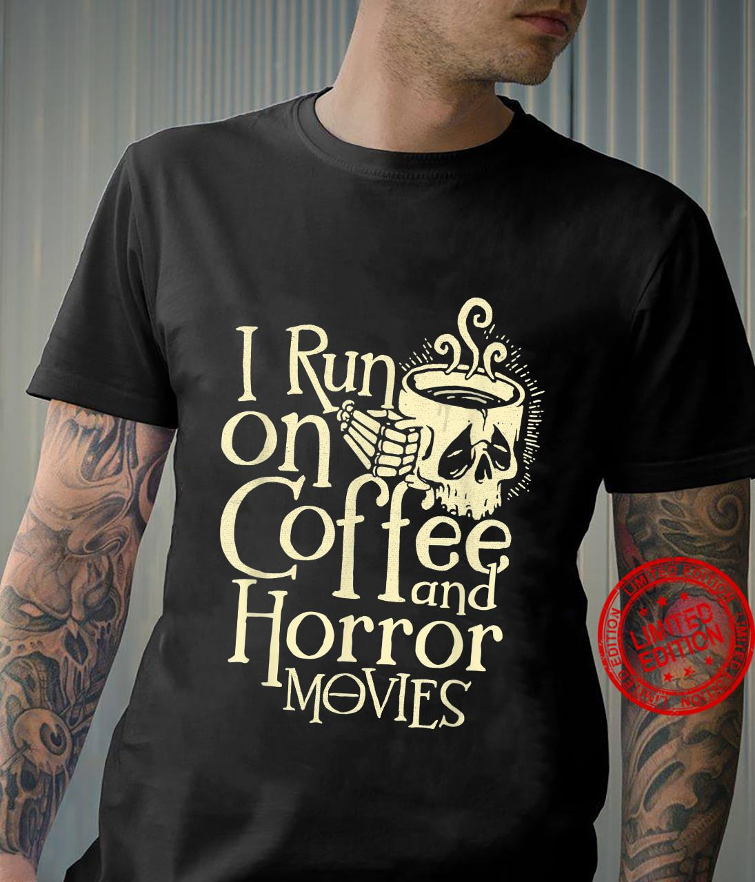 I Run On Coffee And Horror Movies Scary Halloween 2021 Shirt Masswerks Store