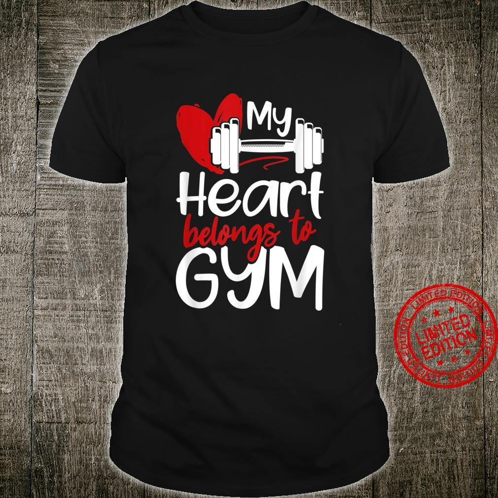 My Heart Belongs To Gym Valentines Day Workout Shirt