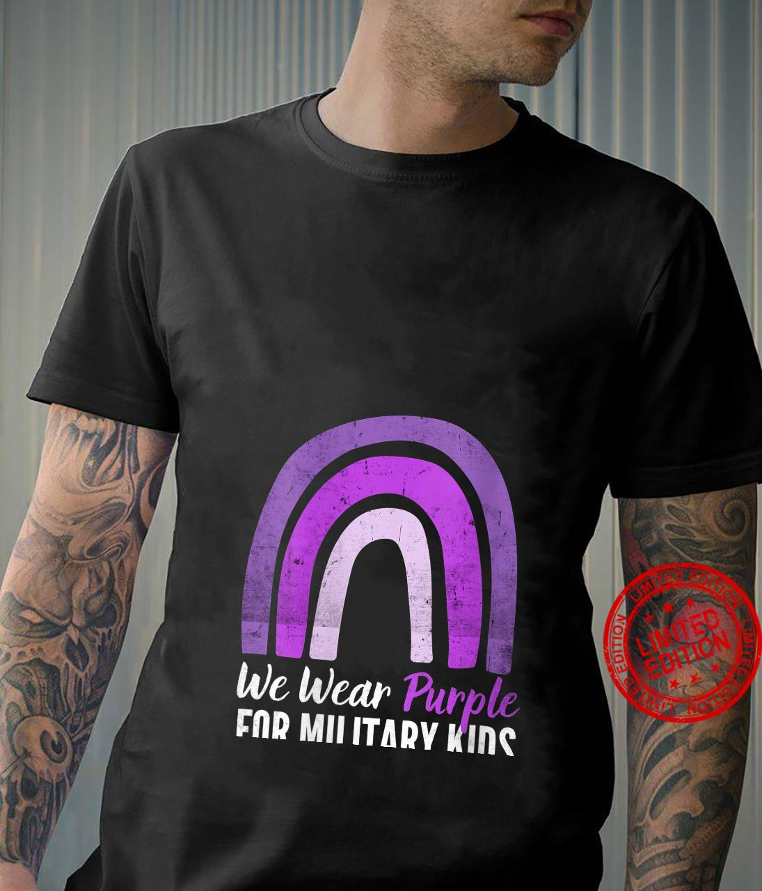 Womens We Wear Purple For Military Kids Month Military Vintage Shirt