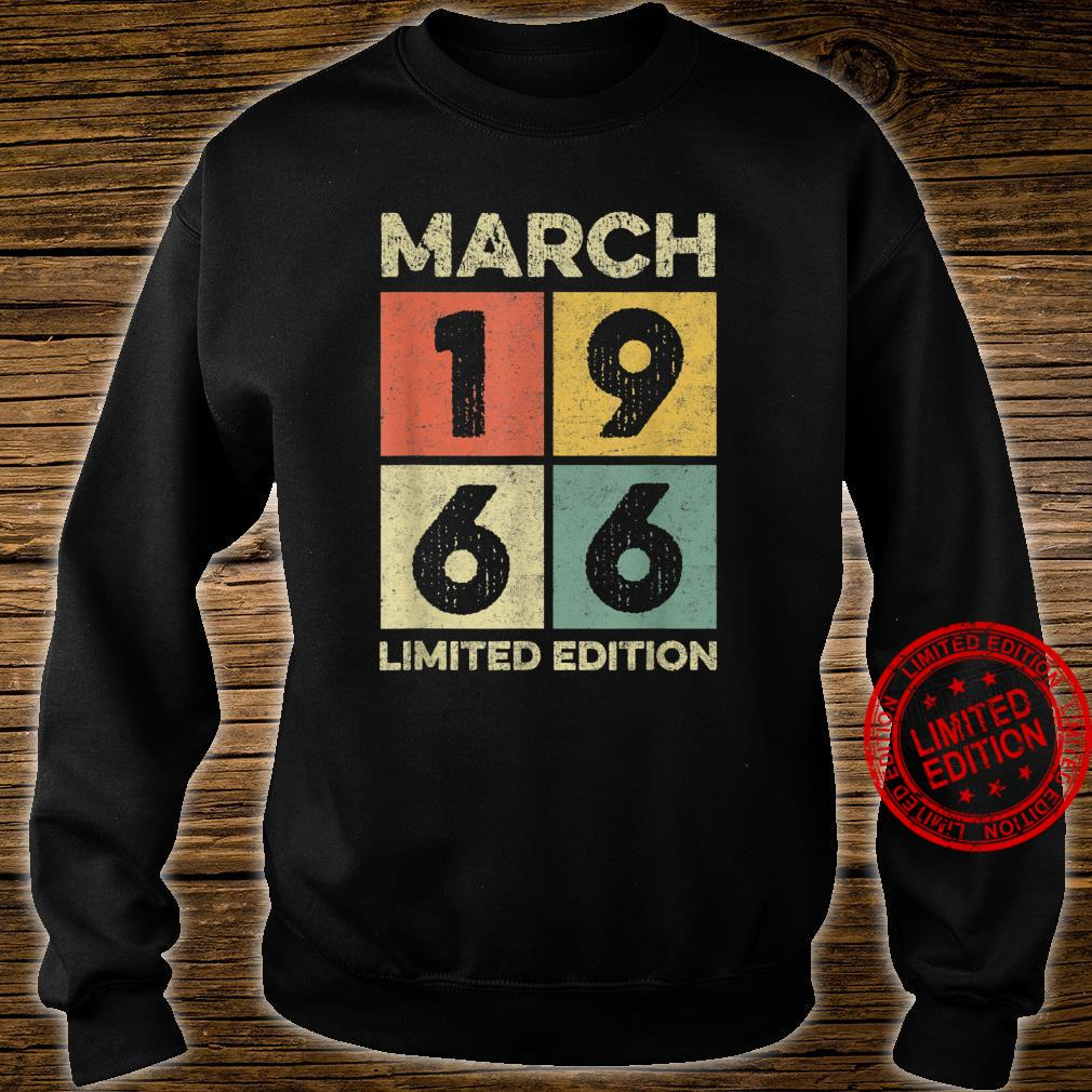 Born in March 1966 55th birthday decoration 55 year old Shirt sweater
